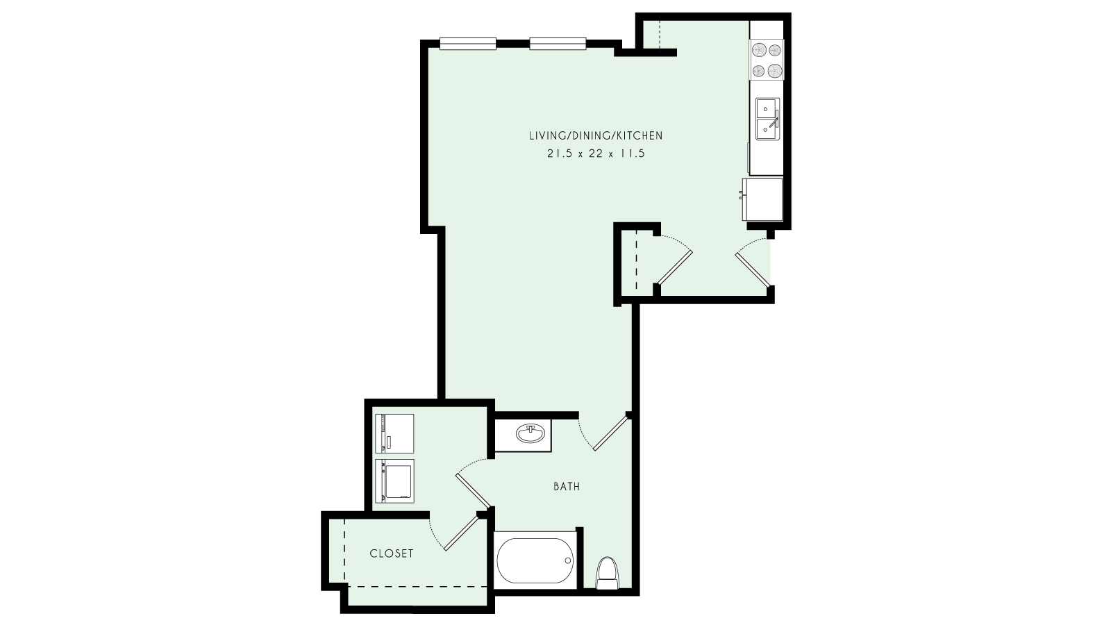 L05 | Loft, One Bath | 675 sqft