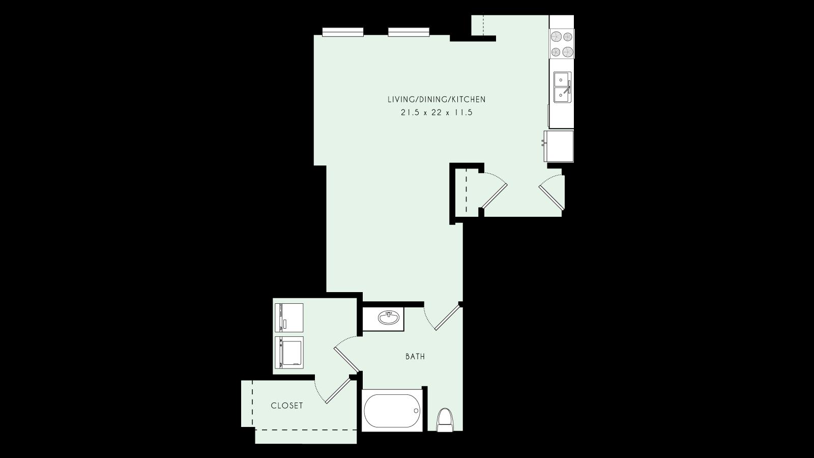 L05 | Loft, One Bath | 675 sqft